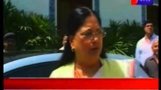 CM Vasundhra Raje on demise of BJP leader Gopinath Munde covered by Jan Tv