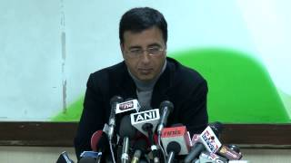 AICC Press Conference addressed by Shri. Randeep Surjewala on 22,January, 2014