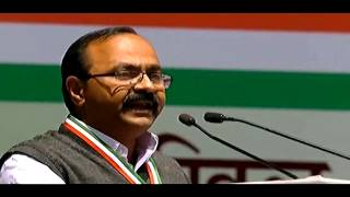 V.D. Satheesan (AICC Secretary- Tamil Nadu) addressing AICC Session in New Delhi