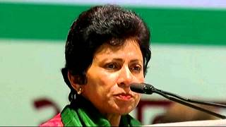 Kumari Shelaja (Minister, Lok Sabha) addressing AICC Session in New Delhi