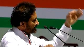 Shakti Singh Gohil (Leader of Gujarat Legislative Assembly) addressing AICC Session in New Delhi