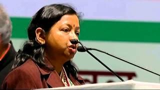 Geeta Shri Oraon (MLA, Jharkhand) addressing AICC Session in New Delhi