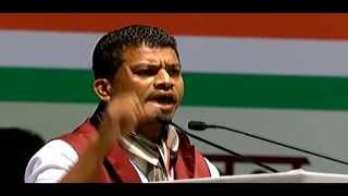 Pradeep Majhi, Member of Parliament from Nabarangpur speaks at AICC Session in New Delhi