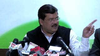 AICC Press Conference addressed by Mukul Wasnik on January 27, 2014