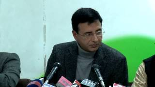 AICC Press Conference addressed by Randeep SIngh Surjewala on January 29, 2014