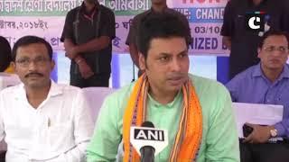 "Tripura CM Biplab Deb holds ""Janta Darbar"" in Tripura's Dhalai"