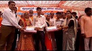 सरीला के पवई में हुआ सर्वजातीय सामूहिक विवाह कार्यक्रम,64 जोड़े एक दूजे के हुये