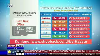 Perbandingan Harga e-Commerce: Sandisk Ultra 48Mbps Microsd 32 Gb
