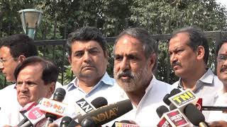 Rafale Scam: Anand Sharma addresses media after meeting of Congress delegation with CAG