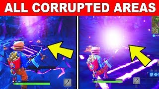 Visit All of the CORRUPTED Areas FORTNITE CHALLENGE - FORTNITE WEEK 2 CHALLENGES SEASON 6