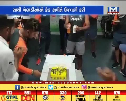 Indian Cricketer Rishabh Pant's birthday celebration in Rajkot