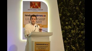 Congress President Rahul Gandhi's keynote address at the 16th Hindustan Times Leadership Summit