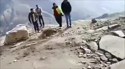 HRTC On Way To World's Most Dangerous Road - Manali To Kaza
