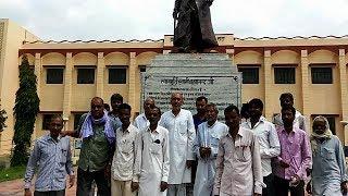 राठ में अमावास्या पर लोगों ने की स्वामी जी की समाधी की परिक्रमा और अम्बेडकर प्रतिमा का पर माल्यापर्ण