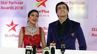 Kartik & Naira Aka Shivangi & Mohsin At Star Parivar Awards 2018 | RED CARPET