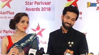Nakuul Mehta With Wife Jankee At Star Parivaar Awards 2018 - Full Interview