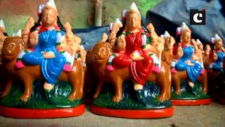 "Artisans prepare ""Bommai Golu"" dolls ahead of Navratri in Coimbatore"