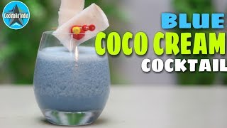 How to make Blue Coco Cream | cocktail with Coconut Meat | Dada Bartender | Coconut water Cocktail