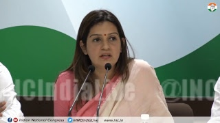 AICC Press briefing by Priyanka Chaturvedi at Congress HQ on Gujarat Migrants' Exodus