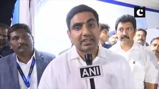 Nara Lokesh lays foundation stone of HCL in Vijayawada