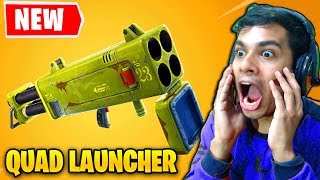 NEW QUAD LAUNCHER LEGENDARY WEAPON IN FORTNITE SEASON 6 (Fortnite Battle Royale)