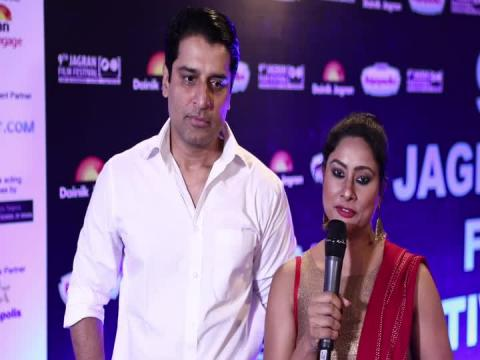 Actor Shakti Anand And Actress Sai Deodhar at 9th Jagran Film Festival 2018
