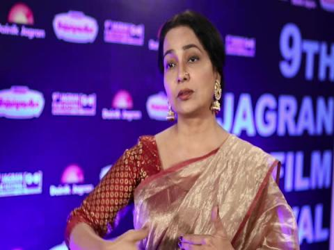 Actress Shubhangi Latkar at 9th Jagran Film Festival 2018