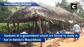 Students of govt school forced to study in hut in Odisha's Mayurbhanj