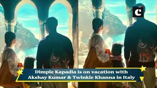 """Dimple Kapadia dances to tunes of """"Bobby"""" on streets of Italy"""