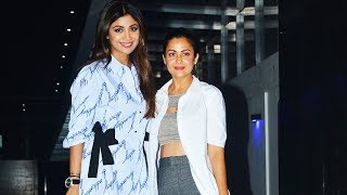 Shilpa Shetty & Amrita Arora Spotted At Hakkasan Restaurant For Dinner