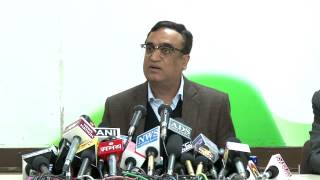 AICC Press Briefing by Ajay Maken on February 11, 2014