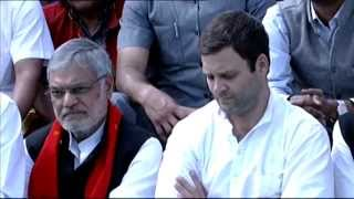Rahul Gandhi's interaction with Tribal Groups in Diphu, Assam on February 25, 2014
