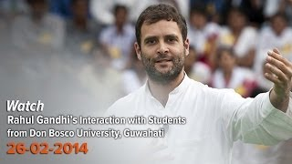 Rahul Gandhi's Interaction with Students in Assam, February 26, 2014