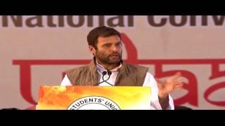 Rahul Gandhi addresses the NSUI National Convention at Talkatora Stadium, New Delhi