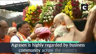 Amit Shah pays tribute to Maharaja Agrasen in Hyderabad