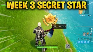 Week 3 SECRET Battle Star LOCATION in Fortnite Season 6 (Fortnite Battle Royale)
