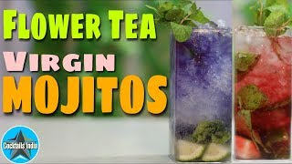 How to make Mojito with Tea in hindi | flower tea mojitos | Colorful Mojitos | Dada Bartender