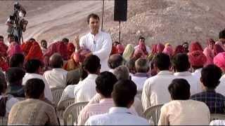 Rahul Gandhi's Interaction with Stone Mine Workers in Kolayat, Bikaner Rajasthan on March 10, 2014