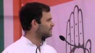 Rahul Gandhi Addressing a Public Rally in Dharamshala, Himachal Pradesh on March 20, 2014