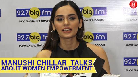 Manushi Chillar  talks about women empowerment at Big FM Studio