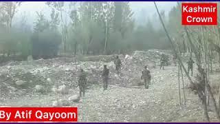 #HandwaraEncounter Clashes Going On Near Encounter Site In Handwara(By Atif Qayoom)