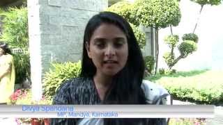 Youngest MP of India, Divya Spandana encouraging youth to exercise their Right To Vote