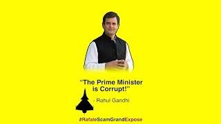 Rafale Scam Grand Expose: Congress President Rahul Gandhi addresses media at Congress HQ