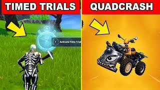 QUADCRASHER AND COMPLETE Timed Trials LOCATIONS  -  FORTNITE WEEK 3 CHALLENGES SEASON 6