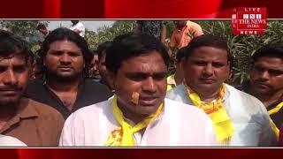 [ Noida ] नॉएडा में अपनी मांगो को लेकर कि  सानों ने किया सैमसंग कम्पनी के बाहर प्रदर्शन