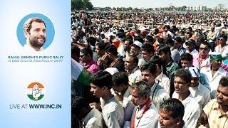 Rahul Gandhi's Public Rally in DDA Ground, Dakshinpuri, Delhi on 6th April 2014