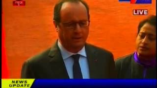 French President Francois Hollande 3-day visit in india news telecasted on jantv