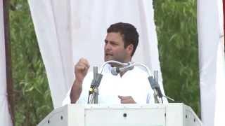Rahul Gandhi Addressing a Public Rally at Sirsi, Karnataka on April 07, 2014