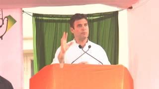 Rahul Gandhi Addressing a Public Rally in Mangalore,Karnataka on April 5, 2014