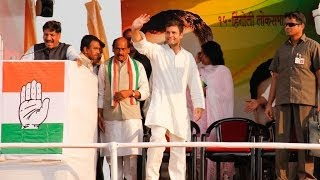 Rahul Gandhi Addressing a Public Rally at Hingoli, Maharashtra on April 15, 2014